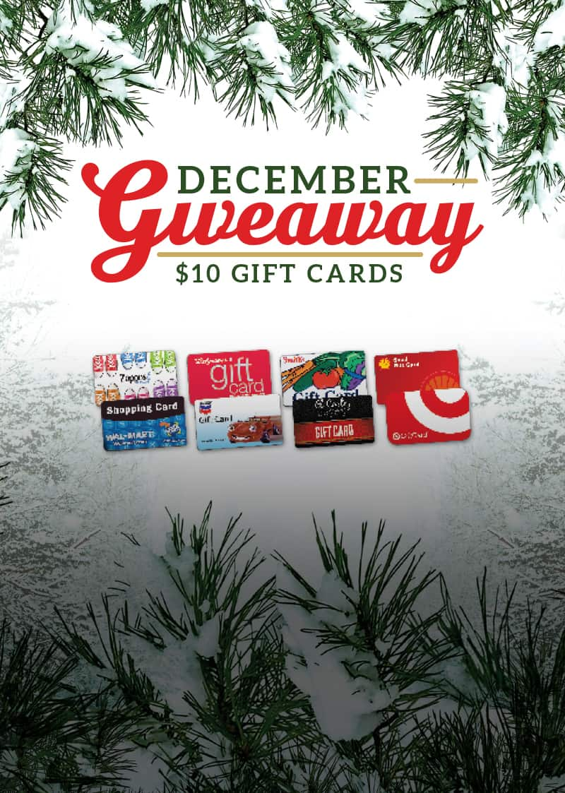 December Gift Card Giveaway